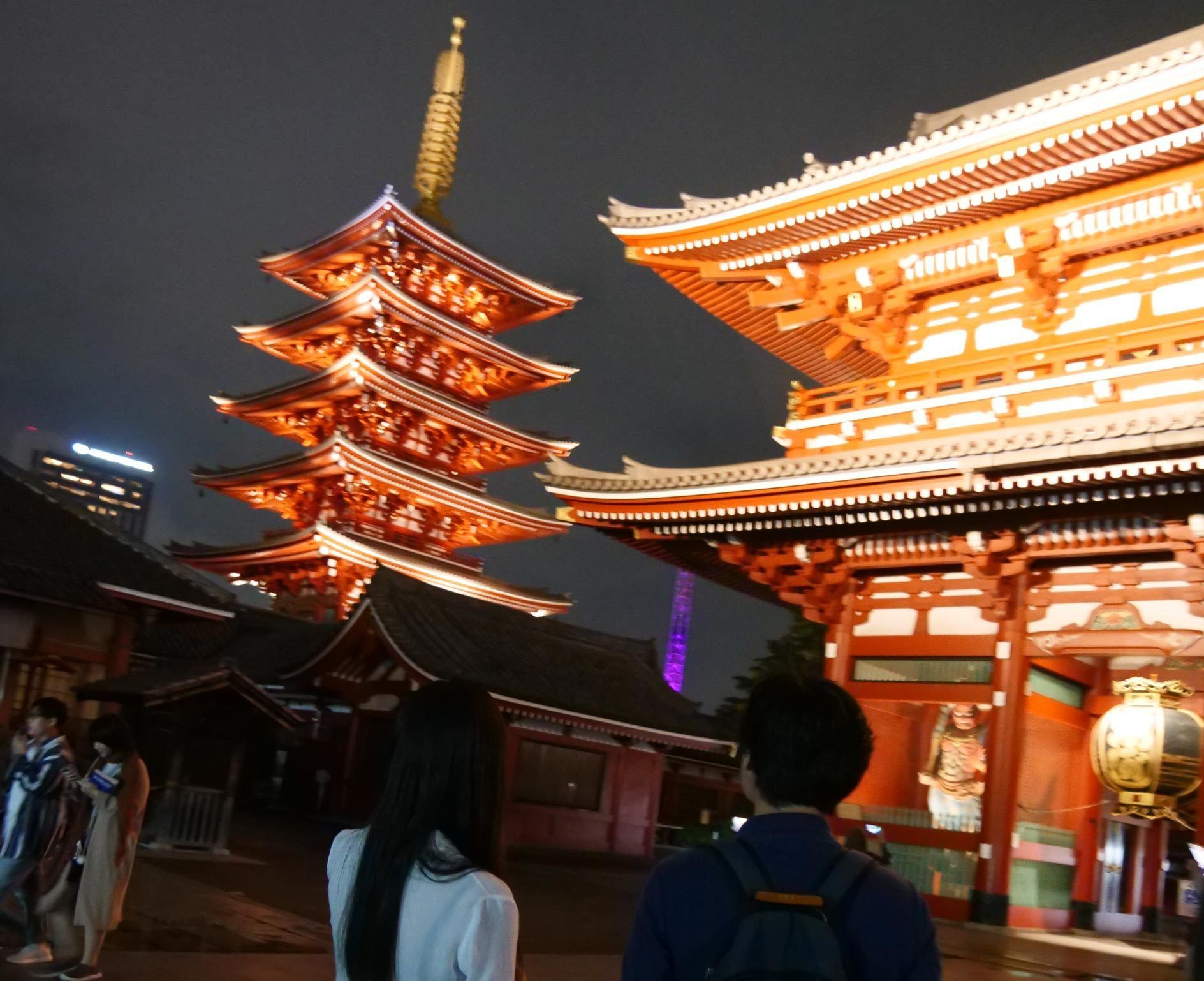 Night view of Sens?-ji, an ancient Buddhist temple located in Asakusa