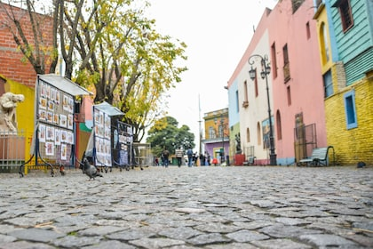 Cobblestoned roads in Buenos Aires