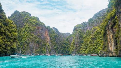 Boats in Phi Phi Islands