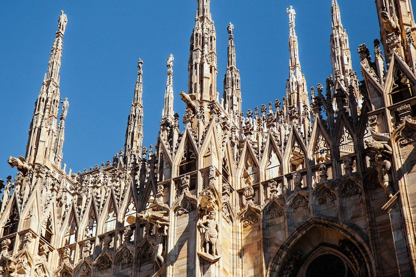 Show item 2 of 8. Close-up details of Milan Cathedral