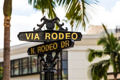 Rodeo Drive sign in California