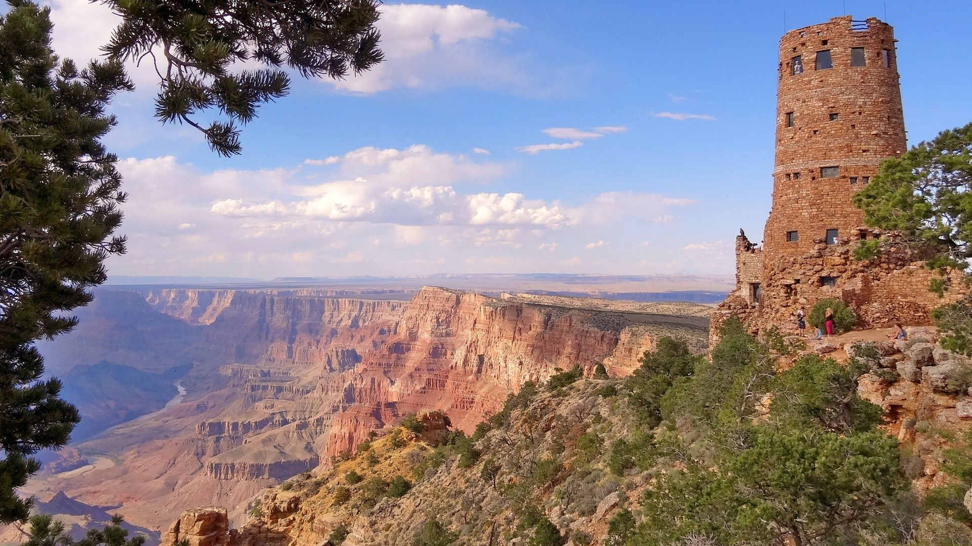 Desert View Watchtower at the Grand Canyon South Rim
