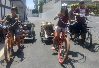 Family biking on a sunny day in Carlsbad