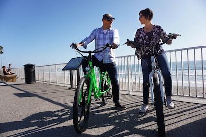 Couple enjoying a relaxing bike ride in Carlsbad