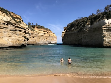 Couple swimming at Loch Ard Gorge