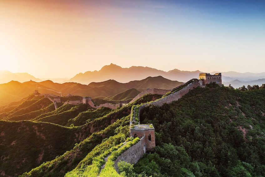 Show item 1 of 9. Great Wall of China at sunrise