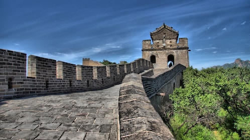Close view of the Great Wall of China