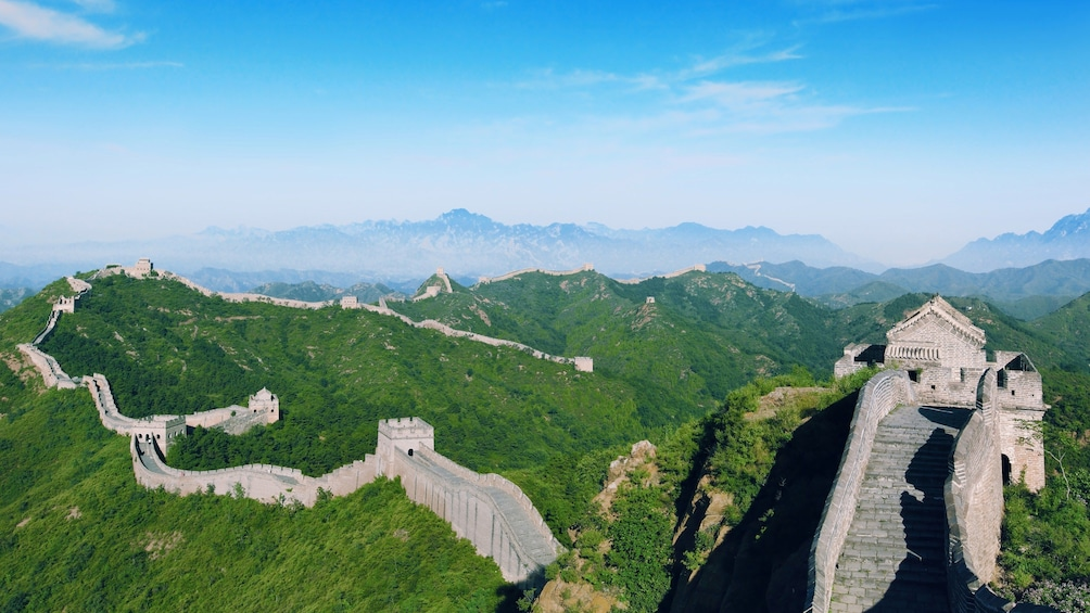 Show item 5 of 9. Panoramic view of the Great Wall of China