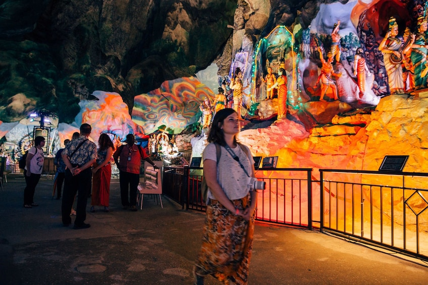 Show item 4 of 10. Colorful statues in Batu Caves in Kuala Lumpur