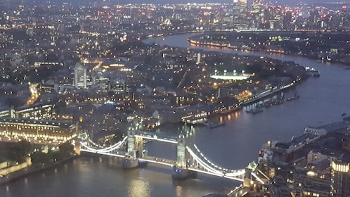 London illuminated at night