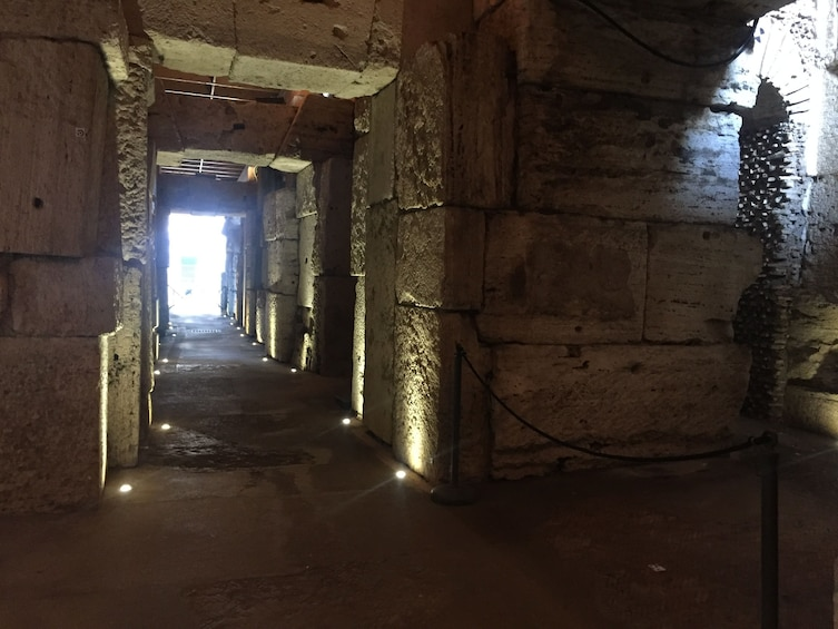 Show item 3 of 9. Walkway in the Colosseum in Rome