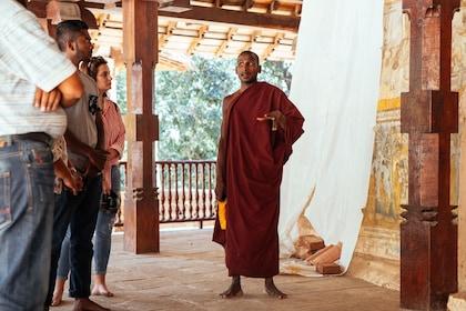 Monk talking to tourists in Sri Lanka