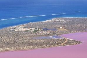 Pink Lake at Hutt Lagoon Flight