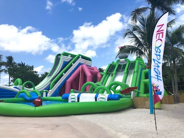 Water slides at the NEOSplash water park in Miami