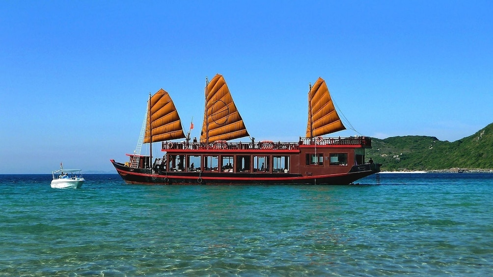 Show item 5 of 10. Large boat in Nha Trang Bay during the day
