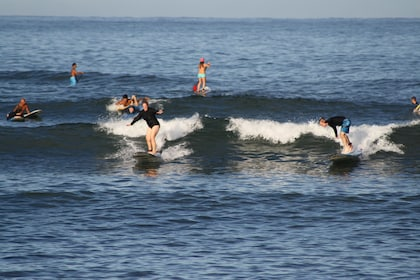 Group surfing in Haleiwa