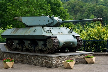 WW2 tank on display in Ardennes