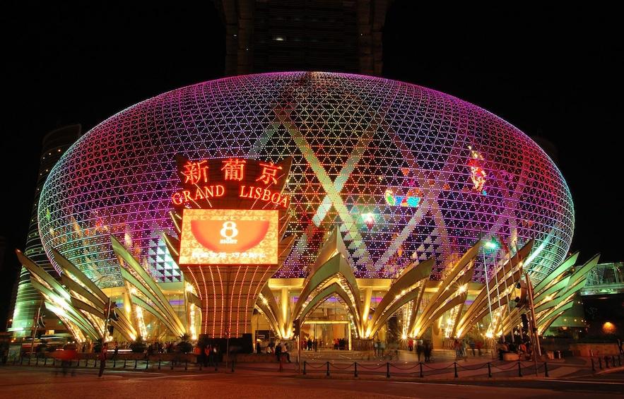 Show item 1 of 10. Macau casino at night