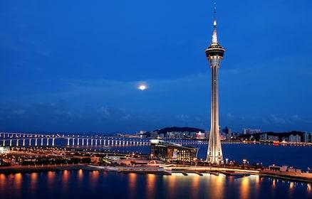 Night view of hong kong macau tower