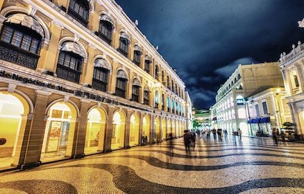 Senado Square at night in Macau