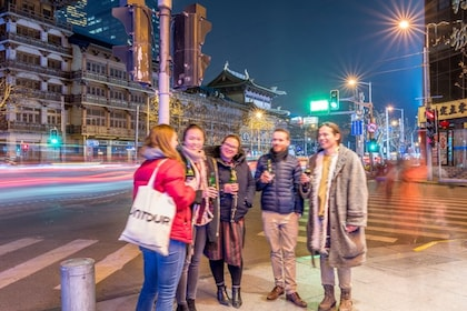 Group on a night tour of Shanghai