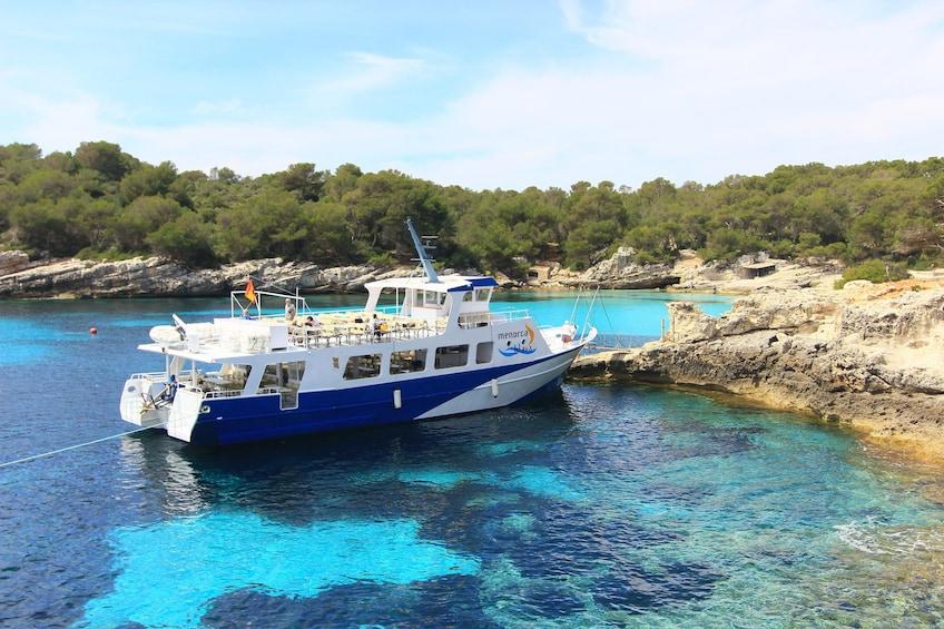 Show item 1 of 8. Tour boat on Menorca