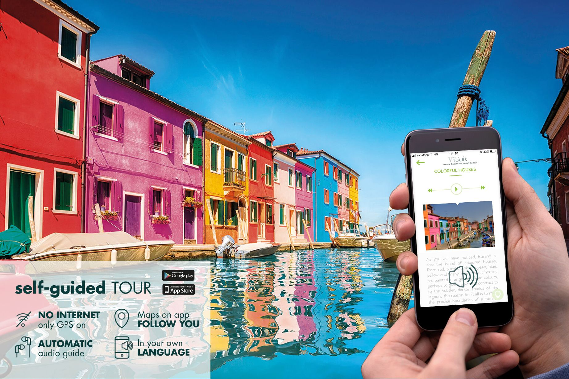 Self-guided islands tour & boat daily pass