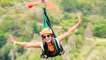 """Ziplining """"The Beast"""" at Toroverde Adventure Park"""
