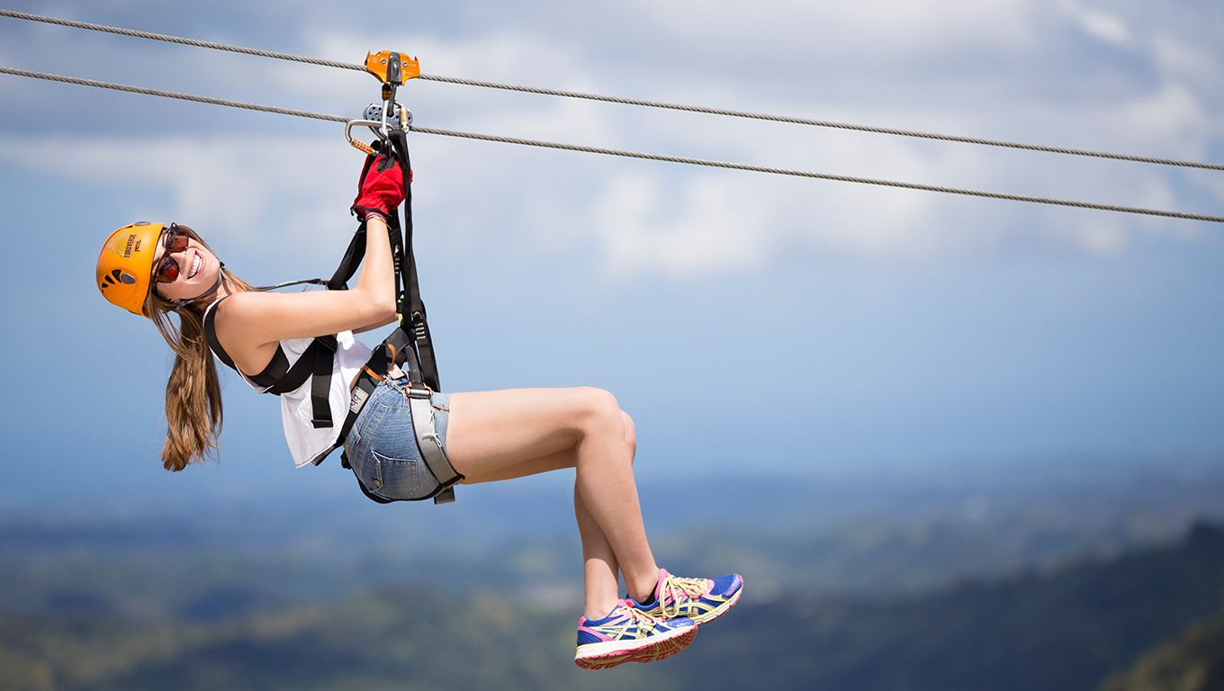Zipline - Eight exciting two linen wires