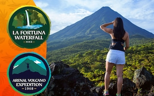 Arenal Volcano Hike with La Fortuna Waterfall Hike