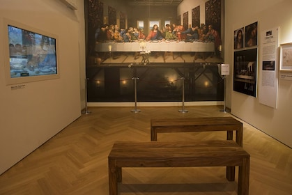 View of the digital restoration of the Last Supper at Leonardo3 in Milano