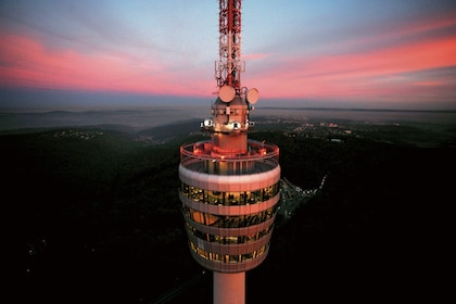 Evening view of Fernsehturm Stuttgart in Germany