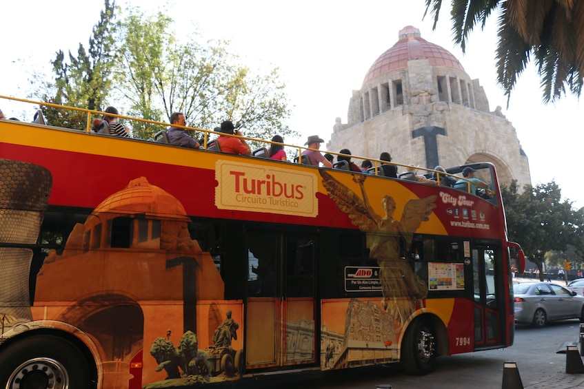Turibus in downtown Mexico City