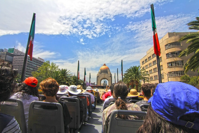 View from top deck of Turibus in Mexico City