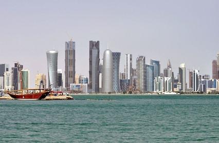 Skyline views of Doha
