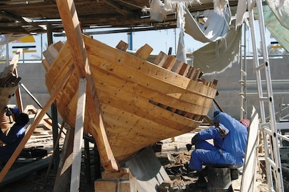 Wooden boat being made in Al Khor