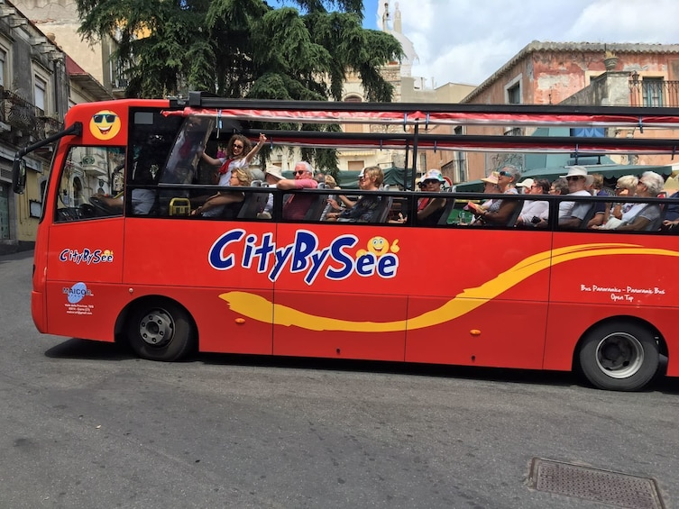Lataa valokuva 1 kautta 8. CityBySee Taormina Hop On Hop Off Bus 2 Days Ticket