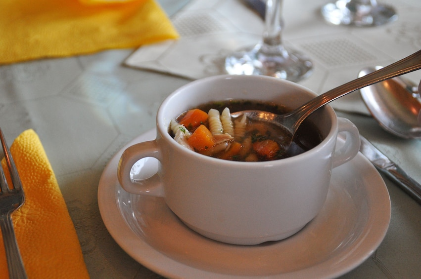 Small cup of soup