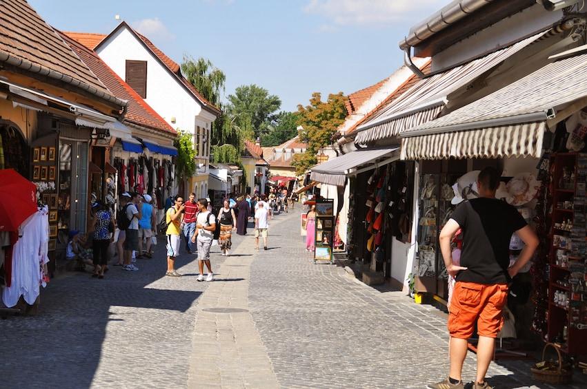 Street market in Hungary