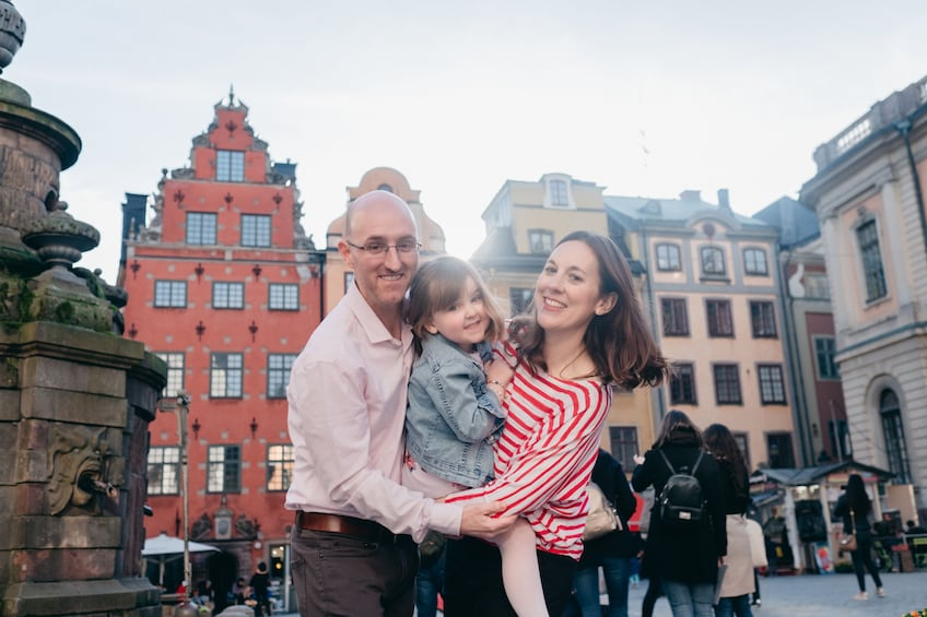 Show item 4 of 4. Family photo in Gamla stan