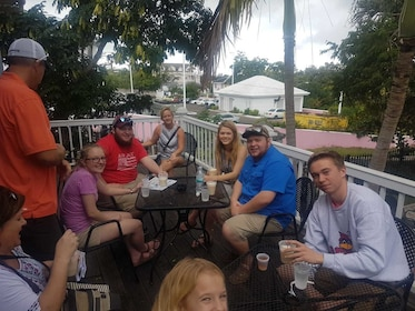 Group enjoying some drinks in the Bahamas