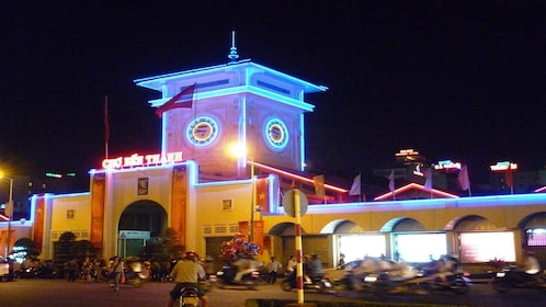 Ben Thanh Market at night in Ho Chi Minh City, Vietnam