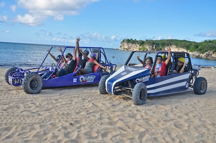 Group on Dune Buggies in the Caribbean