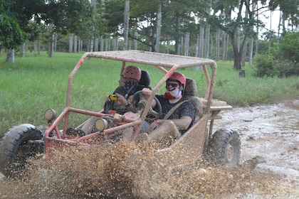 Guests enjoying the dune buggy activity in Punta Cana