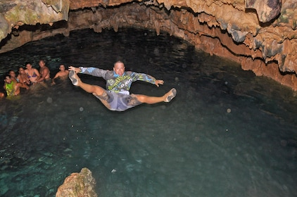 Guests at the taina cave