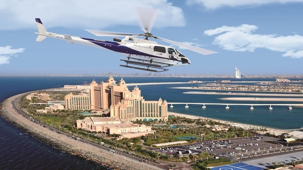 Show item 1 of 8. Helicopter tour from Dubai with Gray Line