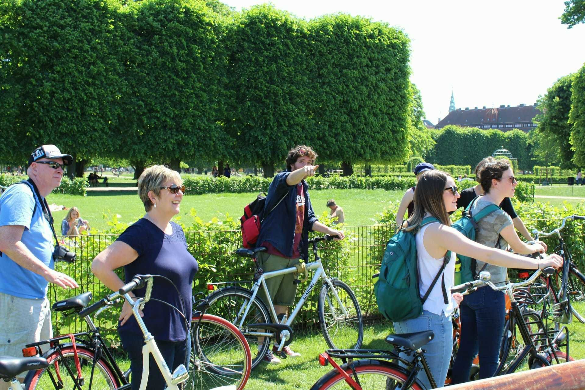 Group bike tour of Copenhagens