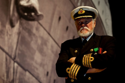 Costumed cast member at the Titanic Museum Attraction in Tennessee