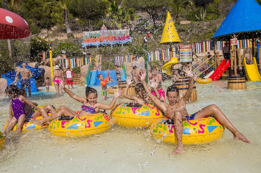 Show item 2 of 10. Kids at a water park in Benidorm