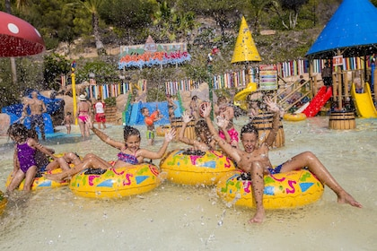 Kids at a water park in Benidorm